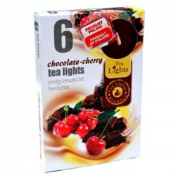 CHOCOLATE - CHERRY scented tealights 6 pcs