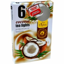 COCONUT scented tealights 6 pcs