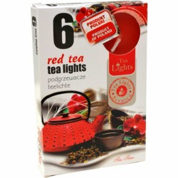 RED TEA scented tealights 6 pcs