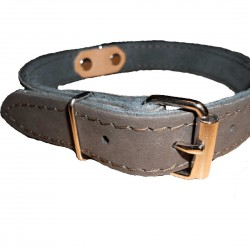 DUNO leather dog collar 35 cm