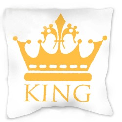 KING pillow 40 x 40 cm yellow