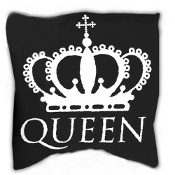 QUEEN pillow 40 x 40 cm black