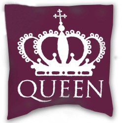 QUEEN pillow 40 x 40 cm violet