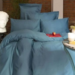 Issimo Blue satin sheet with pillowcases 50 x 70 cm