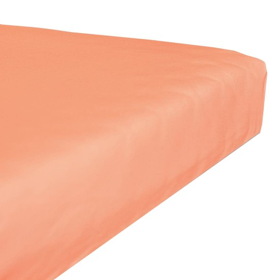 Terry stretch bedsheet - Salmon