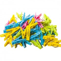 Plastic clothes pegs 50 pcs