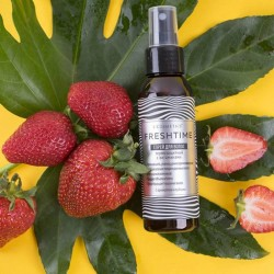 Strawberry aroma FRESH TIME Hair spray - heat protection with vitamins L'Cosmetics