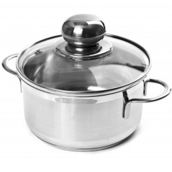 CITY stainless steel pot with lid 1.9 liters