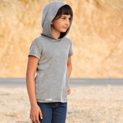 BABY Retro Intima - children's thermal t-shirt short sleeve with hood