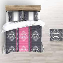CARMEN flannel bedding - gray