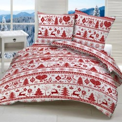 MERRY CHRISTMAS cotton bedding - red