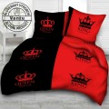 QUEEN & KING cotton bedding - black red