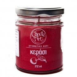 Herbal CHERRY Scented Candle in Glass 212 ml