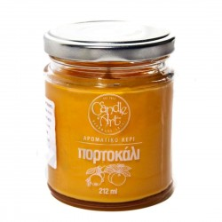 Herbal ORANGE Scented Candle in Glass 212 ml